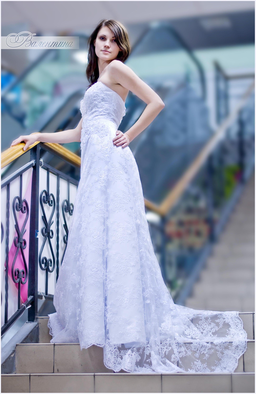 Hochzeit Kleid/Spitze Braut Kleid / Kleid mit Zug/elegante