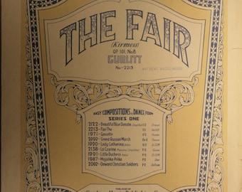 """1924 Sheet Music, """"The Fair"""""""
