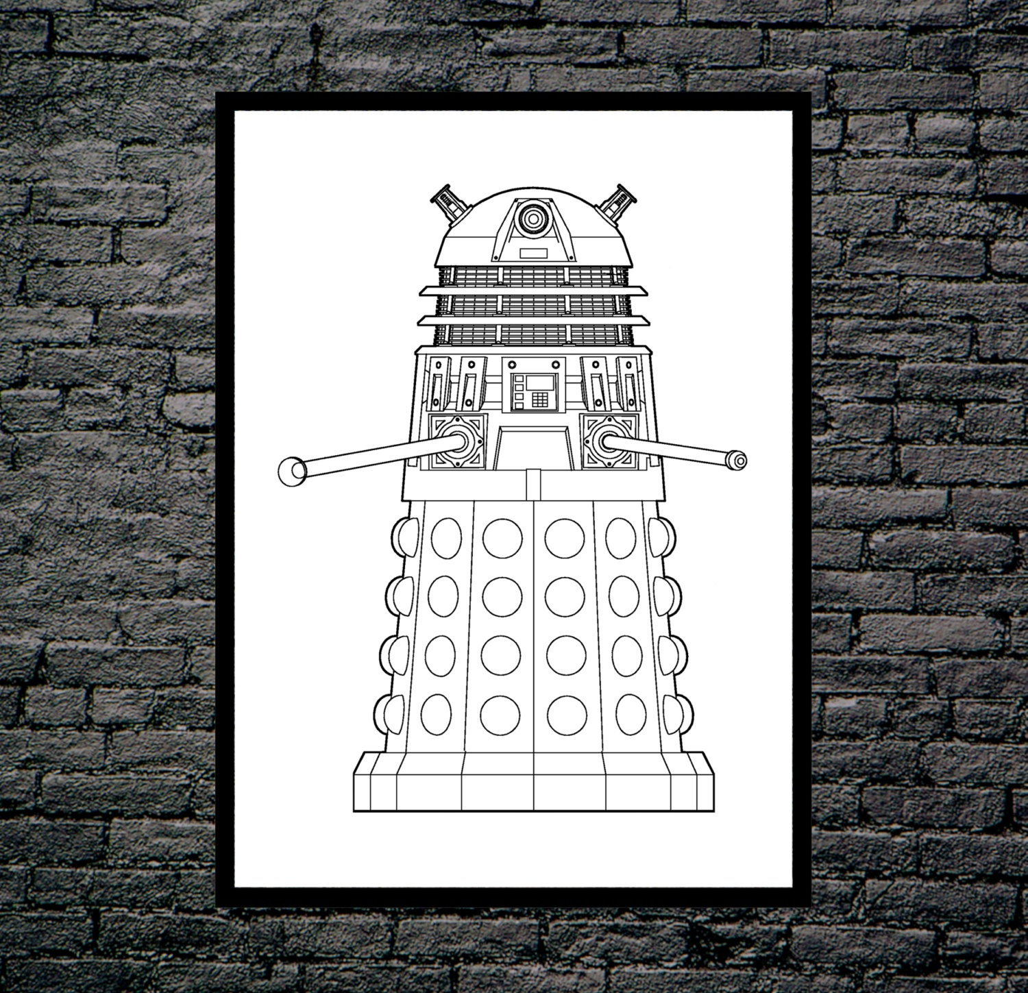 Doctor who dalek patent dr who dalek poster dalek blueprint doctor who dalek patent dr who dalek poster dalek blueprint dalek print dalek art dalek decor doctor who wall art malvernweather Gallery