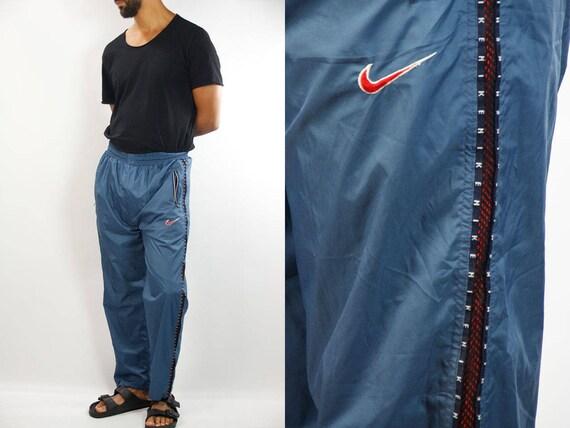 NIKE Track Pants / Nike Joggers / Nike Track Suit Pants / Vintage Nike Pants / 90s Nike Pants / Taped Nike Pants / Track Pants Nike / Nike