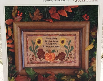 The Victorian Sampler - A Time For Thanks - Cross Stitch Leaflet