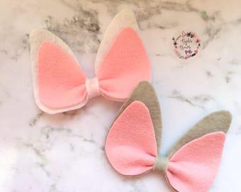 Cute Easter Bunny Ears Hair Accessory (headband or clip)