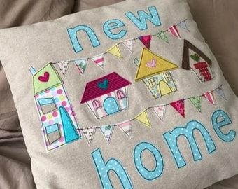 Handmade cushion | New home cushion | Cushion cover | Appliqué cushion cover | Handmade cushion cover | New home |