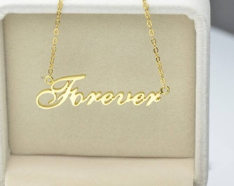 Custom personalized name necklace with 18K gold or 925 sterling silver with rhodium plated