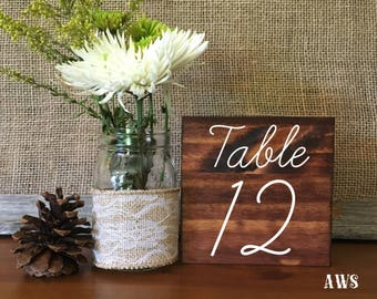 Wedding Double Sided Table Numbers, Rustic Wedding Table Numbers, Wood Table Numbers, Wedding Decor, Table Numbers, Rustic