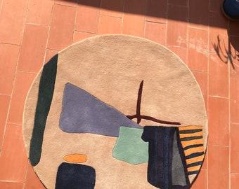 laundry round rug