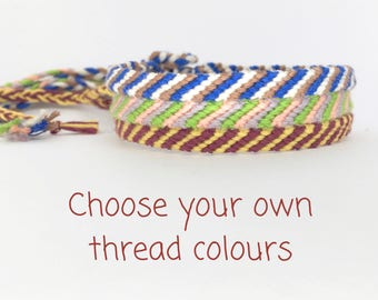 Custom Anklet - Narrow Ankle Bracelet - Friendship Anklet - Choose your own colour - Simple Thin Woven Custom Color Braided Knot Ankle Band