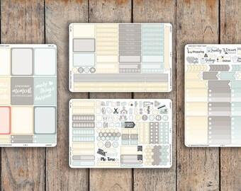 225 Sticker 4 Sheet LAGOON Sampler Kit V2 for 2018 inkWELL Press Planner, Erin Condren IWP-L8