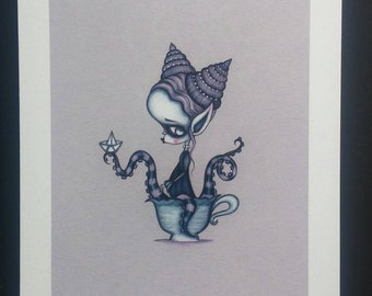 Kraken Lady- Limited edition Fine art giclee print