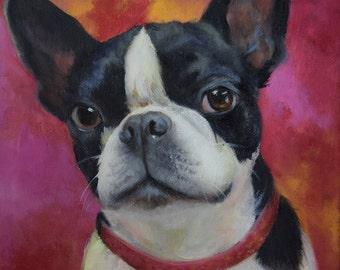 Pet Portrait Custom Oil Painting, Your Pet, Original Canvas Painting by Cheri Wollenberg