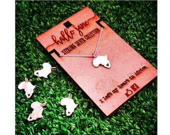 Sterling Silver Mini Africa Necklace