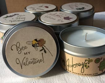 Valentine gift / Honey candle /bee mine /  Valentine gifts small co workers friend client gifts Valentines day  friendship business gifts