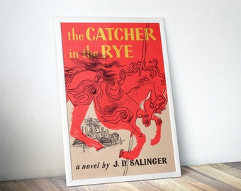 The Catcher in the Rye Book Cover Posters - Book Lover Gift, Literary Gifts, Librarian, Gifts for Readers, Bookish