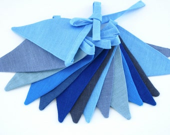 Fabric Flag Banner / Bunting / Pennant / Blue