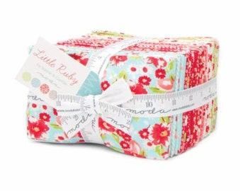 SALE 40 Fat Eighths 1/8 - LITTLE RUBY fabric bundle  Moda by Bonnie & Camille