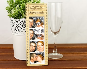 Photo Strip Frame - Placecard Bomboniere Gift and Favour - all in one!