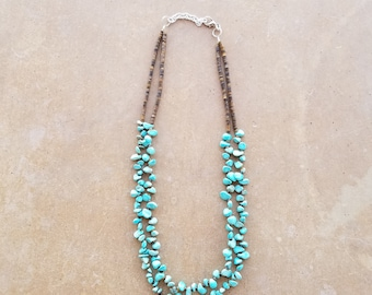 Turquoise and Heishi Penshell Necklace