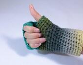 Fingerless crochet gloves...