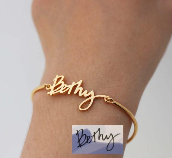 Actual Signature Bracelet
