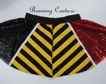 2X Queen of Hearts  inspired Sparkle Running  Women's Circle skirt.