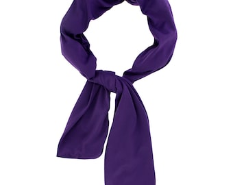 Beat Hot Flashes in Style! Nano-Ice Cooling Necklace - scarf style - Purple - COOLING BALLS INCLUDED!