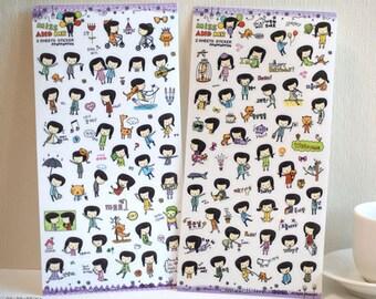 30% SALE Miss And Mr Sticker I - 2 sheets /1set