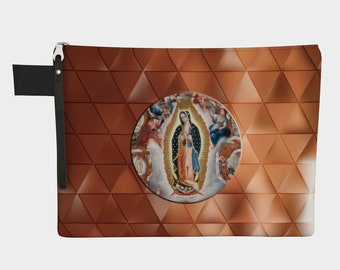 Our Lady of Guadalupe Zipper Carry-All bag - 4 sizes - catholic gift for her - religious bags - Virgin Mary bag - Pouch - Zipper pouches