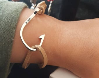 Hope Hook Suede Bracelet