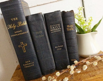 Give Us This Day... Vintage Holy Bibles Prayer Book Church Faith and Ministry Books Missal Hymnal Religious Books Bibliophile