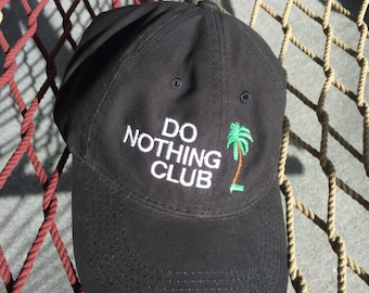 Do Nothing Club - Black Cap With White Letters