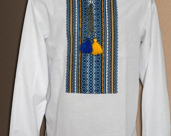 Vyshyvanka Ukrainian embroidered shirt for men Ukrainian clothing Linen shirt or cotton shirt for men Any sizes