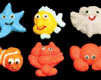 Edible Sea Life Creatures Mini  Royal Icing      Simply Darling