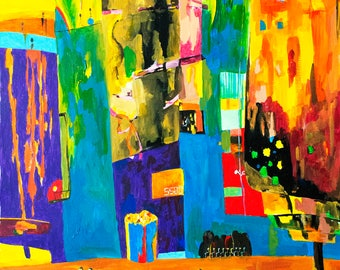 Abstract Art Print - Bright Happy Chaos - Original Acrylic Painting - Art Prints - Happy Painting