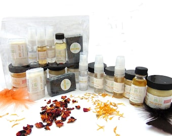 Sampler Set, 10-Piece, Travel Friendly, Natural Skin Care, Bath and Body, Spa Set, Aromatherapy