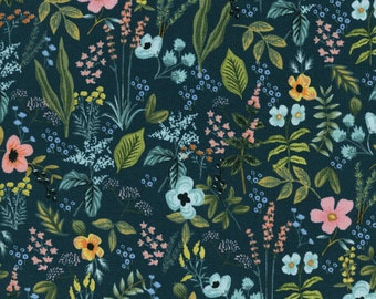 Herb Garden Navy - Amalfi - Anna Bond Rifle Paper Co - Cotton + Steel - 100% Quilters Cotton AB8044-002