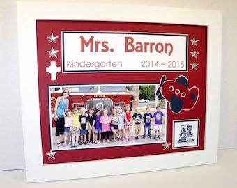 End of Year Teachers Gift - Class Photo Keepsake - 11x14 UNFRAMED Photo Mat - Personalized - Any Theme - Match Your Classroom