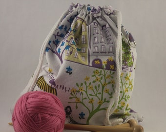 Simple Sac Drawstring Project Bag