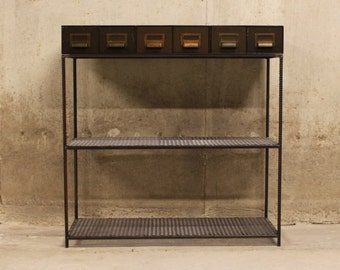 Vintage Industrial Console Table