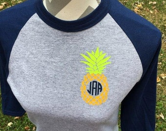 Youth pinapple Raglan