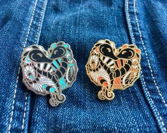 Seahorses Gold and Silver Enamel Pins