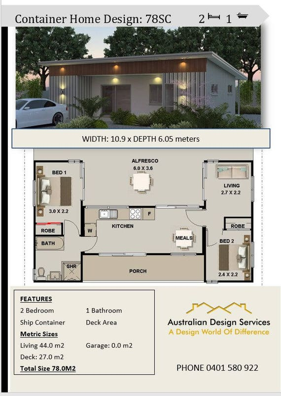 Shipping container home plans for sale 3 containers for Container house plans for sale