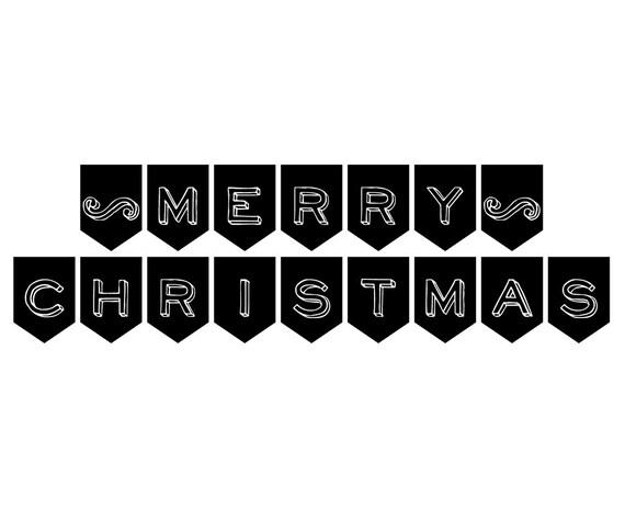 Printable merry christmas banner christmas photo prop printable merry christmas banner christmas photo prop holiday decorations black white christmas decor diy print it yourself solutioingenieria Choice Image