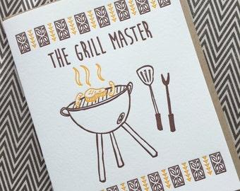 Grill Master - letterpress card