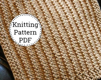KNITTING PATTERN-Corduroy, Dishcloth Pattern