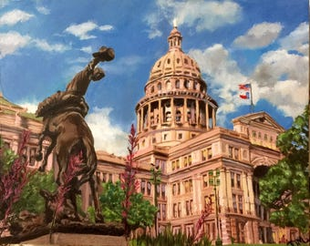 Austin Texas Capital Painting