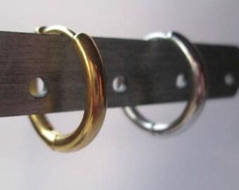 Titanium, Hoop Earring, 17 mm., Man, woman, Ear Propeller, Piercing, gift, anniversary, christmas, friend, Earring, minimalist, Spain, Studs