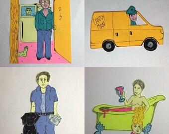 Post it Portrait Commission print