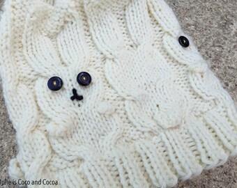 Snow Bunny Knit Hat Pattern