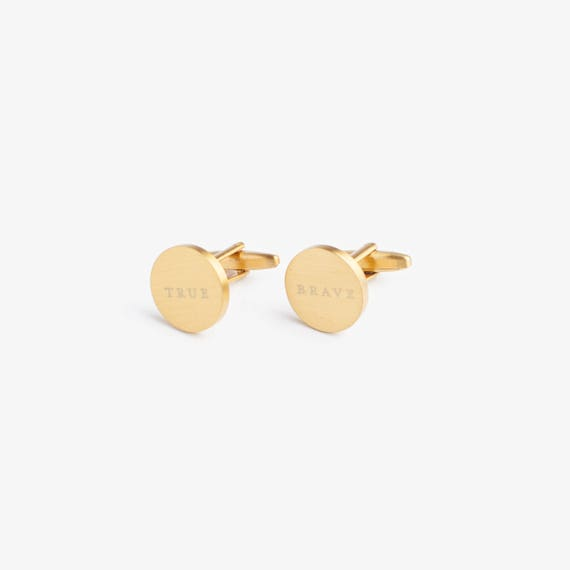 Brass Plated Cufflinks - Fine & Dandy OTrgmFBQSj