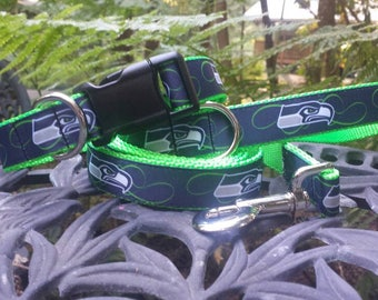 Seattle Seahawks Dog Collar, leash or set